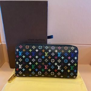 Louis Vuitton multicolored zippy wallet